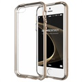 iPhone 5 / 5S / SE VRS Design Crystal Bumper Series Cover - Skinnende Guld