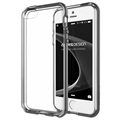 iPhone 5 / 5S / SE VRS Design Crystal Bumper Series Cover - Stål Sølv