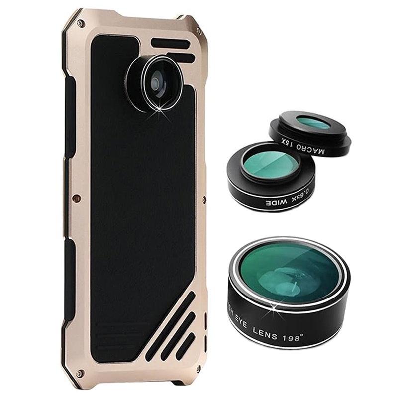samsung galaxy s7 edge viking cover med kamera linse s t sort guld. Black Bedroom Furniture Sets. Home Design Ideas