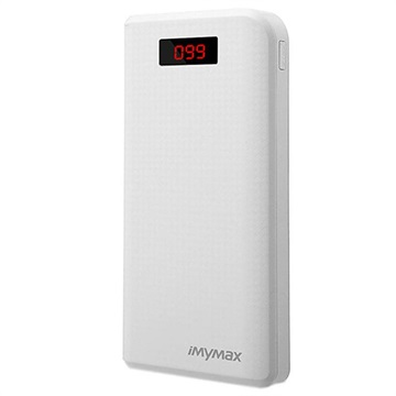 iMyMax Carbon MM-PB/006 2xUSB Powerbank - 30000mAh - Hvid