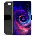 iPhone 5/5S/SE Premium Flip Cover med Pung - Galaxy
