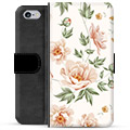 iPhone 6 / 6S Premium Flip Cover med Pung - Floral
