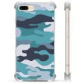 iPhone 7 Plus / iPhone 8 Plus Hybrid Cover - Blå Camouflage