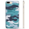 iPhone 7 Plus / iPhone 8 Plus TPU Cover - Blå Camouflage