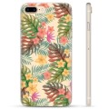 iPhone 7 Plus / iPhone 8 Plus TPU Cover - Lyserøde Blomster
