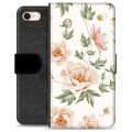 iPhone 7 / iPhone 8 Premium Flip Cover med Pung - Floral