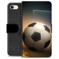 iPhone 7 / iPhone 8 Premium Flip Cover med Pung - Fodbold