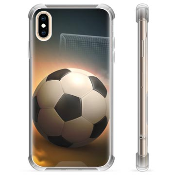iPhone X / iPhone XS Hybrid Cover - Fodbold