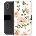 iPhone XS Max Premium Flip Cover med Pung - Floral