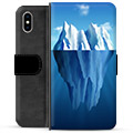 iPhone X / iPhone XS Premium Flip Cover med Pung - Isbjerg