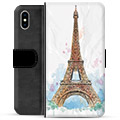 iPhone X / iPhone XS Premium Flip Cover med Pung - Paris
