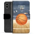 iPhone X / iPhone XS Premium Flip Cover med Pung - Basketball