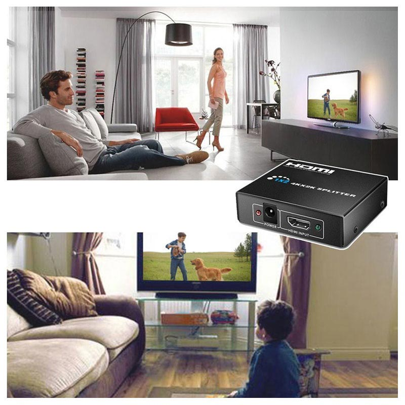 HDMI Splitter 1 x 2 - 3D, 4K Ultra HD - Sort