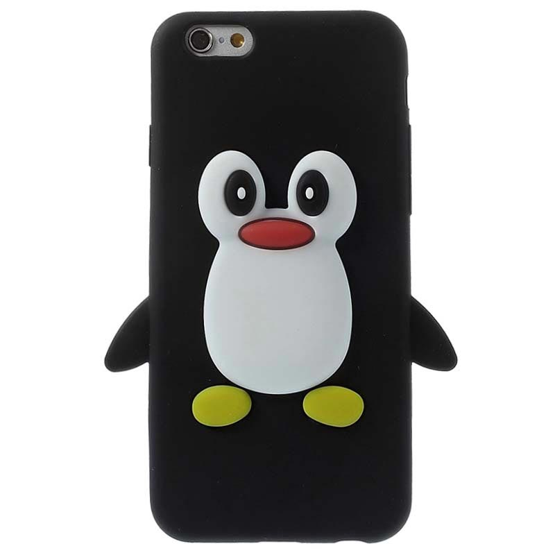 new arrival 434f7 bf1ab iPhone 6 / 6S 3D Penguin Silikone Cover - Sort