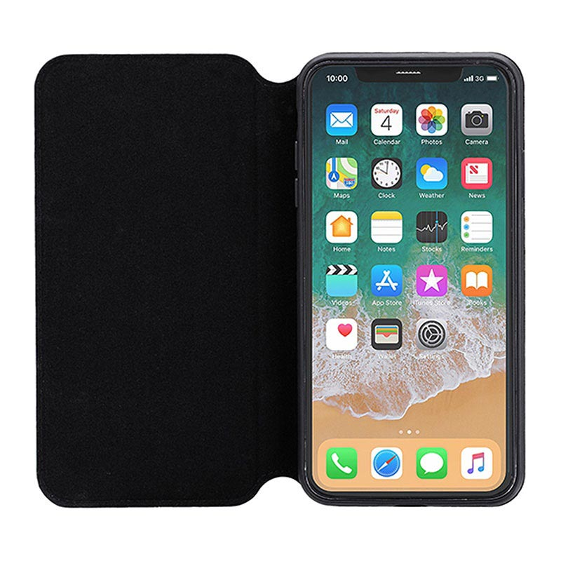 3Sixt SlimFolio iPhone XS Flip Cover - Sort