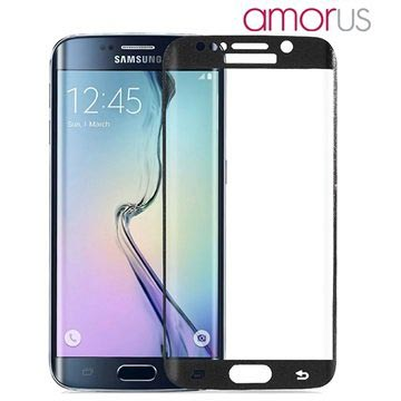 Samsung Galaxy S6 Edge Amorus Full Coverage Beskyttelsesfilm - Sort