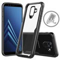Samsung Galaxy A6 (2018) Anti-Shock Hybrid Crystal Cover - Sort / Klar