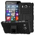 Microsoft Lumia 950 Anti-Slip Hybrid Cover - Sort
