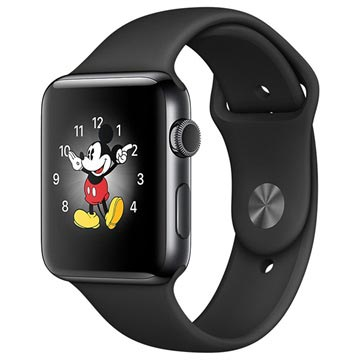Apple Watch 2 MP4A2ZD/A - Urkasse i Rustfrit Stål - Sportsrem - 42mm