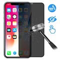 Devia 3D Full Glass Privacy iPhone X / iPhone XS Panserglas - 9H, 0.26mm - Sort