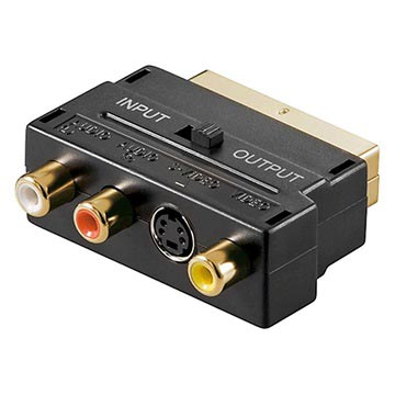 Scart / 3 RCA & S-Video Adapter