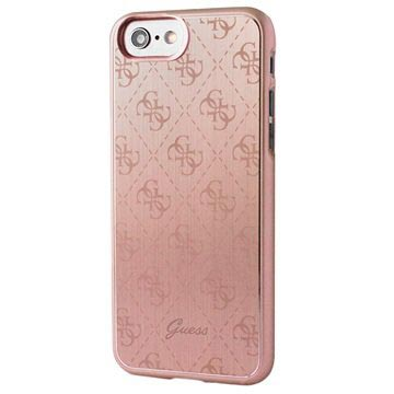 Guess Signature 4G iPhone 7 / iPhone 8 Cover - Rødguld