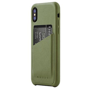 Mujjo Wallet iPhone X / iPhone XS Læder Cover
