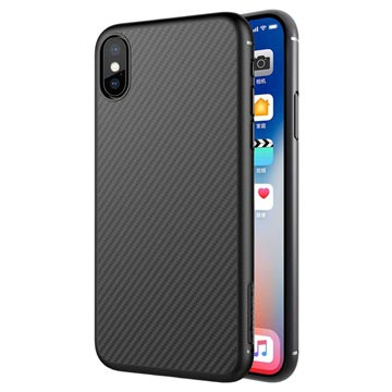 Nillkin Synthetic Karbonfiber iPhone X Cover - Sort