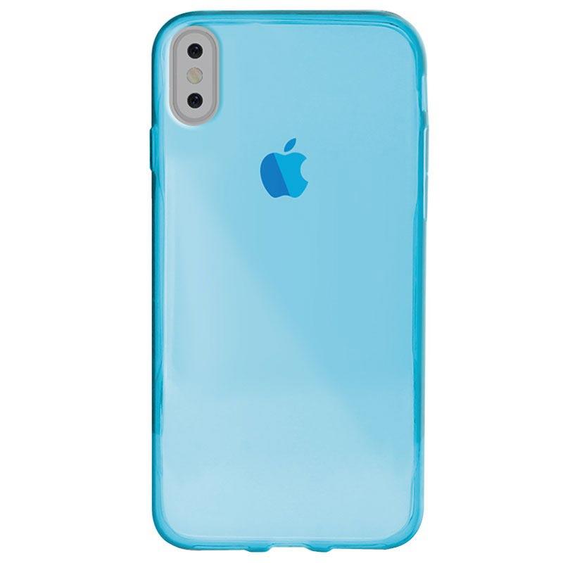iPhone X / iPhone XS Puro 0.3 Nude TPU-deksel - Blå