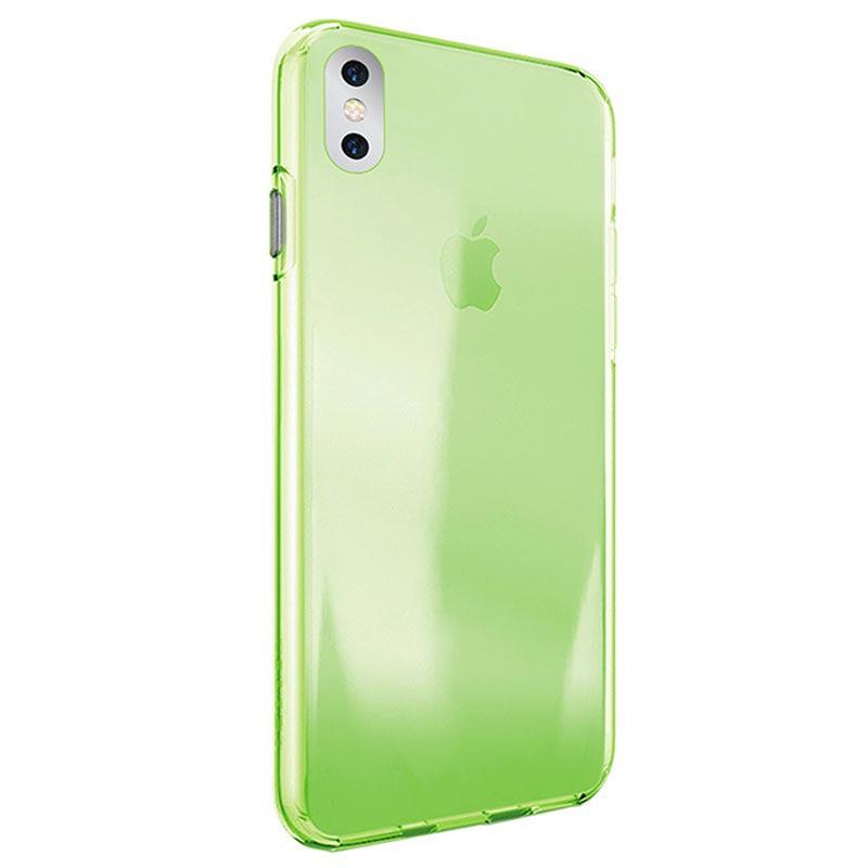 Puro 0.3 Nude iPhone X / iPhone XS TPU Cover - Grøn