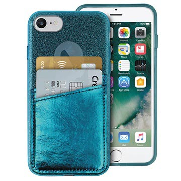 Puro Shine Pocket iPhone 6/6S/7/8 Cover - Mørkegrøn