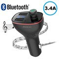 Rock B300 Biloplader & Bluetooth FM Transmitter - Sort