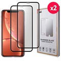 Saii Premium 3D iPhone XR Panserglas - 9H, 0.33mm - 2 Stk.