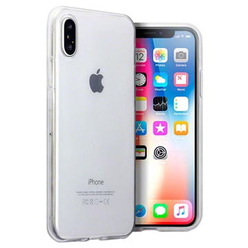 Ultratyndt iPhone X / iPhone XS Silikone Cover - Gennemsigtig