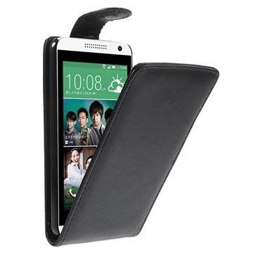 888bb6b06d1 HTC Desire 610 Vertikal Flip Læder Taske - Sort